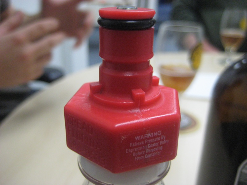 pressure bottle top