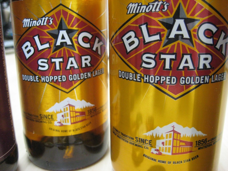 Black Star in bottles and cans