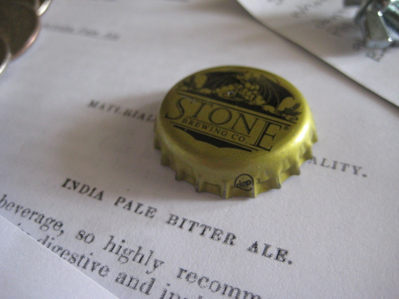 Stone bottle cap