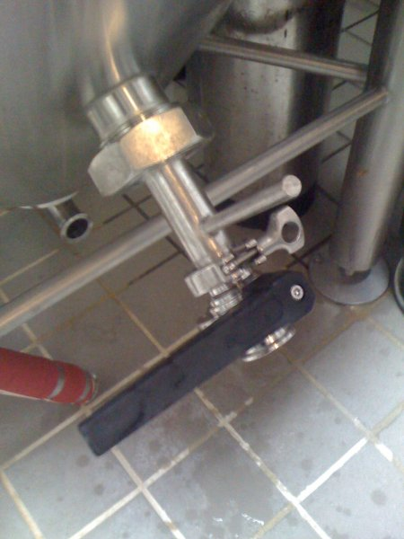 one valve installed