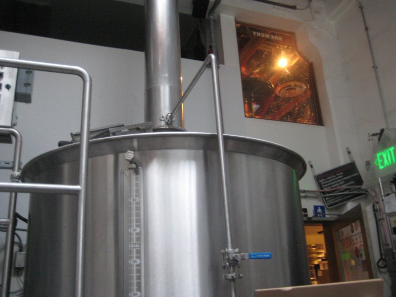 inside the brewery right