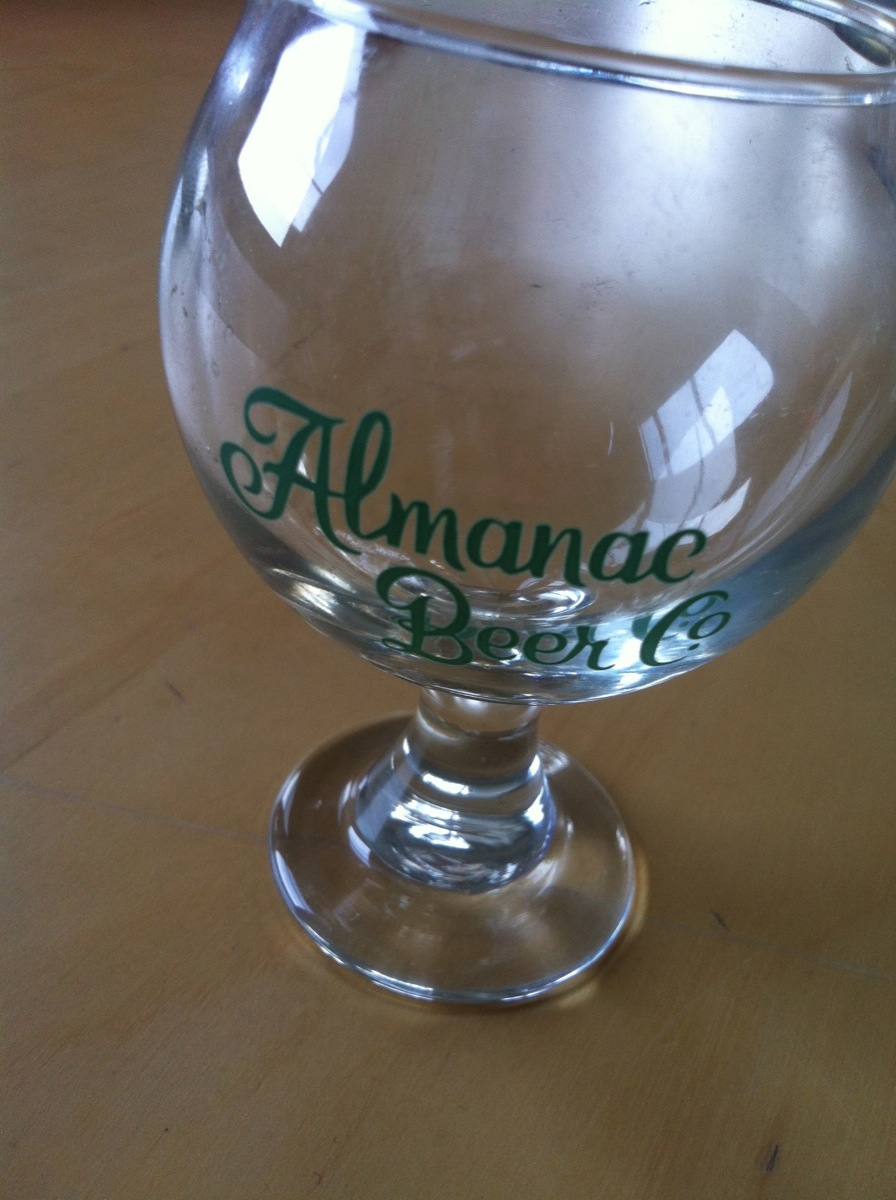 Beer Talks glass from Almanac