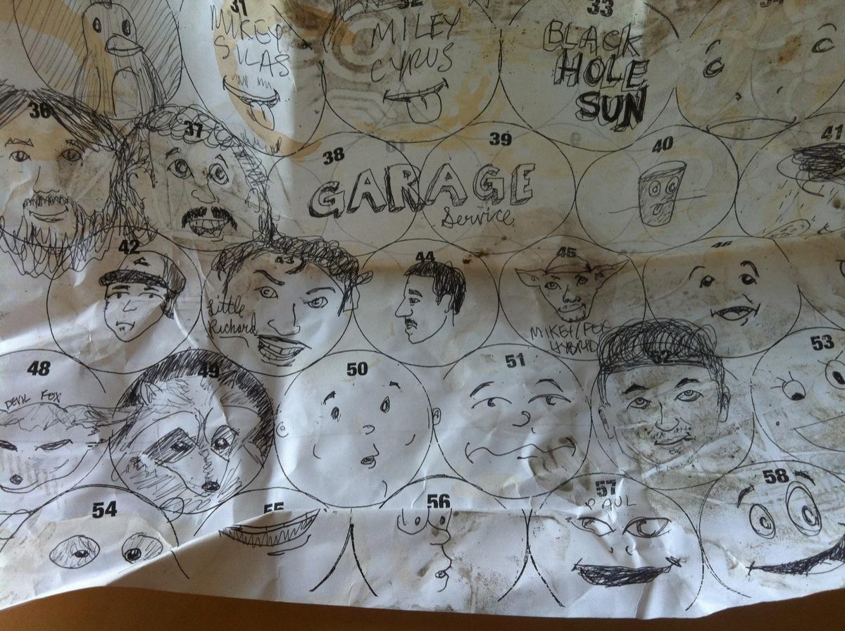 Barley Wine fest found doodles.