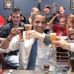 Obama Toasts Beer